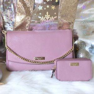 Kate Spade ♠️NWT Pink/Mauve Crossbody Bag & Wallet
